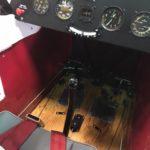 Floorboards and front cockpit after restoration.