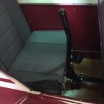 Rear seat after restoration.
