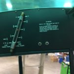Left wing fuel gauge and placards.